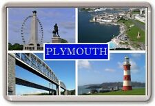 FRIDGE MAGNET - PLYMOUTH - Large - Devon TOURIST