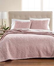 Martha Stewart Collection Velvet Flourish Full / Queen Quilt Pink Rose $200