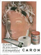 Publicité ancienne produit de beauté Caron 1953 issue de magazine