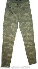 New $225 Designer J Brand Jeans Womens 26 Camouflage Camo Army Dark Green Skinny