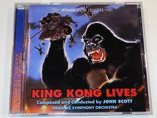 John Scott KING KONG LIVES Soundtrack Ltd. Intrada CD NM-