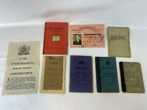 Konvolut Militaria Dokumente Militärpass Soldbuch 1. WK Krim  Waffenschein Antik