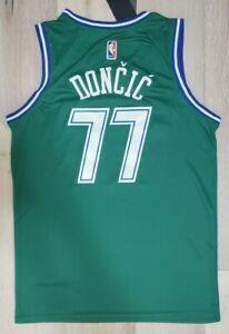 NEW Luka Doncic Men's Jersey Dallas # 77 Green Swingman NWT Limited