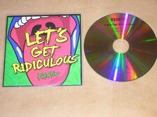 RARE CD PROMO 2 TITRES / REDFOO / LET'S GET RIDICULOUS / TRES BON ETAT