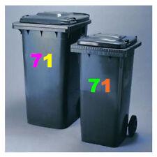Waste Bins & Dustbins, offiice numbers, bin number, self adhesive stickers--,