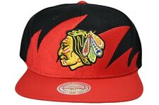 8e0b546fecf NHL Chicago Blackhawks Mitchell and Ness Snapback Sharktooth Wool Cap Hat  M N