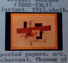 """Georges Braque """"Clarinet 1913"""" 35mm Cubism French Art Slide"""