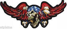 Grand patch brodé USA DEATH SKULL - Style BIKER HARLEY