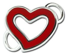 LeStage Convertible Bracelet Clasp - Love Open Heart with Red Enamel