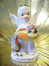 RARE Vintage Napco November Birthday Boy Angel Figurine MINT ADORABLE!
