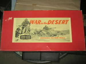 Lone star war in the desert full set in excellent box 1960's set is complete