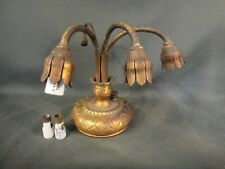 Genuine Antique Tiffany Studios 320 Lily Lamp Base - No Shades - Dore Finish
