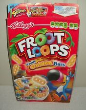 #10393 Kellogg's 2009 Froot Loops Fruity Golden Bars Cereal BOX ONLY