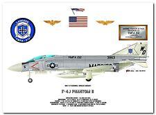 F-4J Phantom II, VMFA-212, 1970's USMC Fighter Print