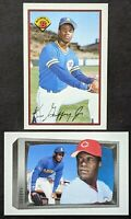 Ken Griffey and Ken Griffey Jr. 1989 Bowman #259 and #220 ROOKIE AUTO