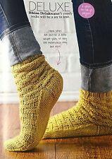 KNITTING PATTERN Ladies Textured Ankle Socks Basketweave Aran Debbie Bliss