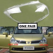For Nissan Tiida 2005 - 2017 HEADLIGHT GLASS LENS SET PAIR RIGHT + LEFT