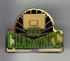 RARE PINS PIN'S .. SPORT BASKET BALL CLUB TEAM  PANIER C.O. CHARAVINES 38 ~C4