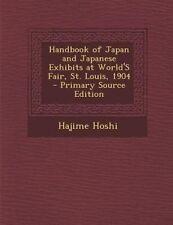 Handbook Japan Japanese Exhibits at World's Fair St Loui by Hoshi Hajime