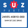 24935-40810-000 Suzuki Shim set,sec drive 2493540810000, New Genuine OEM Part