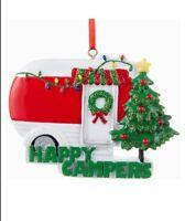 NEW🔥Kurt Adler Happy Campers Caravan Christmas Ornament Red Xmas 2020 Hanging🔥
