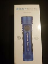 OLIGHT Seeker 2 Pro Blue 3200 Lumens 21700 Battery Rechargeable LED Flashlight