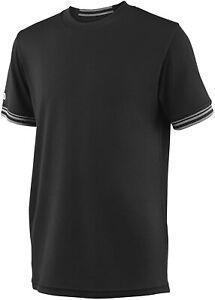 Wilson B Team Boys Shirt Top Top Crew Solide, Noir, XS