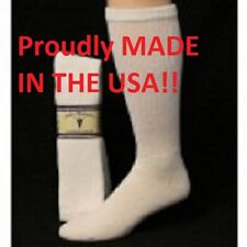 White Diabetic Socks Over the Calf Socks Sole Pleasers Pair size 10-13