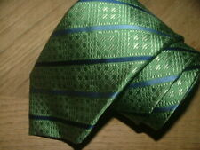 MENS SANTORELLI TIE HAND MADE IN ITALY 100% SILK GREEN BLUE PLAIDS #070