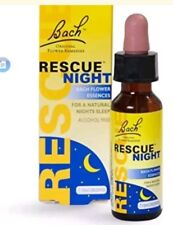 Bach Rescue Night Remedy Drops - 10ml Alcohol FREE Sealed New Boxed BBF OCT 2020