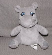 "Adorable Plush GARANIMALS 5"" MINI BABY HIPPO Hippopotamus w/Sewn Aqua Eyes"