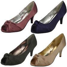 Damas Anne Michelle Detalle De Nudo Peep Toe * Court Shoe *