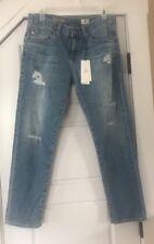 NWT AG Adriano Goldschmied The Ex-Boyfriend Slim Slouchy ripped jeans 27 $225