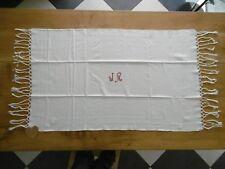 5 serviettes de toilette en nid d abeilles blanches avec monogramme 106x65cms