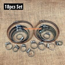 18 pcs Hose Clamps 8mm to 114mm Quality  Hose Clamp Paccaya