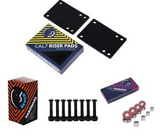 """Cal 7 1.25"""" Hardware + 1/8"""" Riser Pads with Abec-7 Bearings and Spacers"""