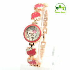 New Hello kitty watch girls women's children quartz watches-Red Colour
