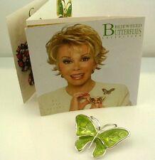 """Joan Rivers Enamel Butterfly Brooch  1 1/4"""""""