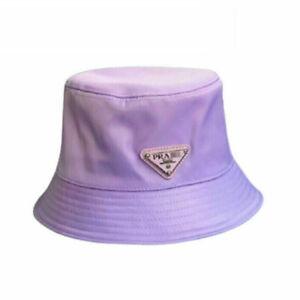 P-ra-da Bucket Hat Cap Purple One Size Free Shipping Brand Fashion Without A Box