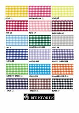 BERISFORDS GINGHAM CHECK RIBBON 5MM WIDE 18 COLOURS - CUT METRES OR FULL ROLL