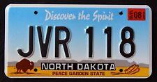 """NORTH DAKOTA """" PEACE GARDEN SPIRIT BISON JVR 118 """" 2013 ND Graphic License Plate"""