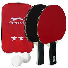 Slazenger Tischtennisschläger Set Ping Pong Tischtennis 2 Schläger 2 Bälle Hülle