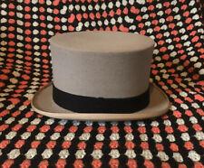 Vintage Grey Gieves Top Hat 7 1/4 Wedding Morning Suit Ascot Races Steam Punk