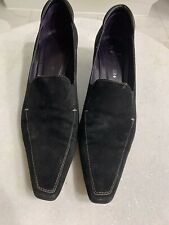 DONALD J PLINER Ladies Pumps Black Suede High Heel Shoes 11 M