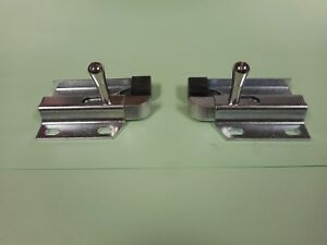 1969 1970 FORD MUSTANG & SHELBY FASTBACK FOLD DOWN REAR SEAT SIDE LATCH PAIR NEW
