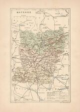 C9054 France - MAYENNE - Cartina geografica antica - 1892 antique map