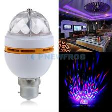 B22 3W RGB LED Rotating Color Changing Light Bulb Party Club Dancing Stage Lamp
