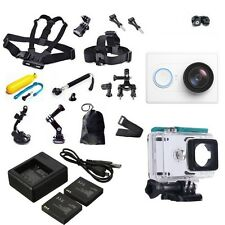 XiaoMi Yi Sports Action 1080P Wifi Camera+Accessories Kit+Dual charger Battery