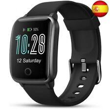 LIFEBEE Smartwatch, Reloj Inteligente Impermeable IP68 con Monitor de  (Negro)