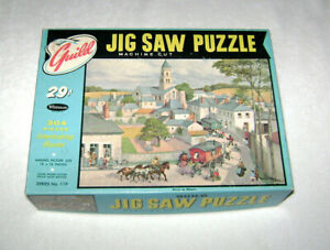 """Vintage Guild Jigsaw Picture Puzzle """"Circus On Wheels"""" 18 x 14"""